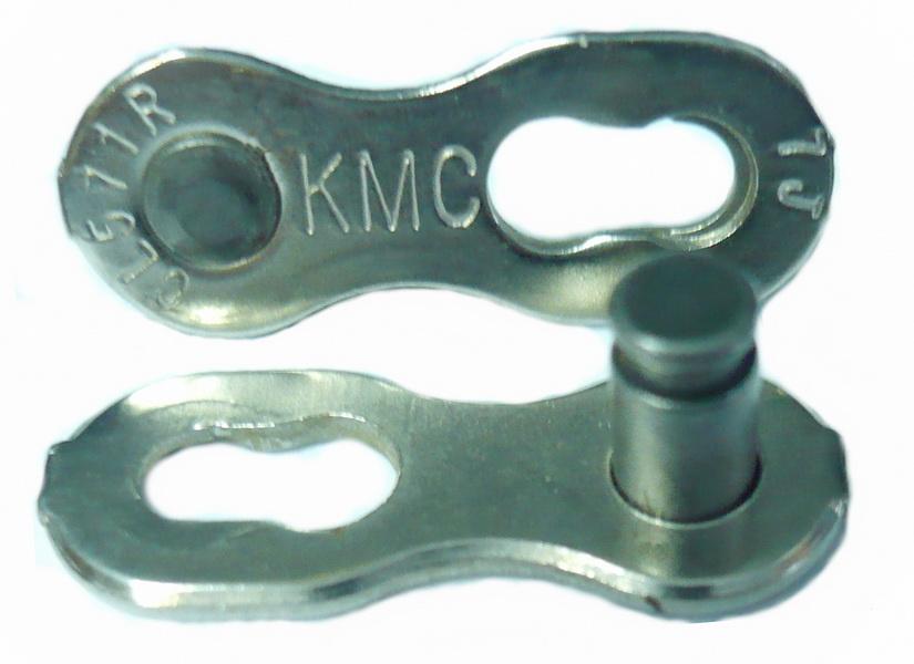 Цeпь  замок цепи  7ск KMC серебристый   г,а