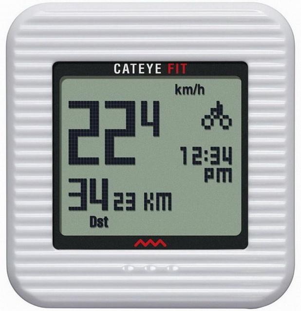 Велокомпьютер Cateye, CC-PD100W, 9 функций, беспроводной, +3D шагомер белый   а