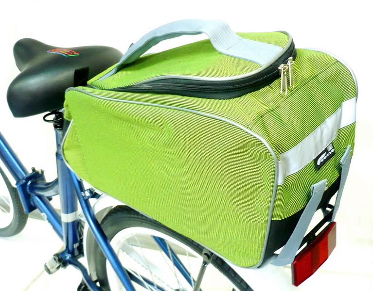 Сумка на багажник Course, джаст-1, вс095.040, зелёная