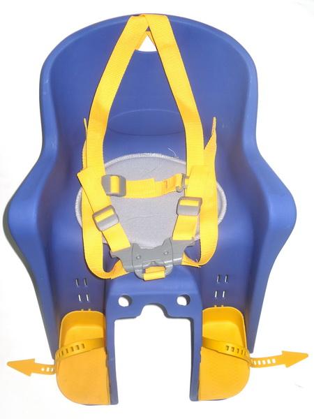 Седло (детское кресло), крепление на раму, BG-6, 15кг, серое   ч