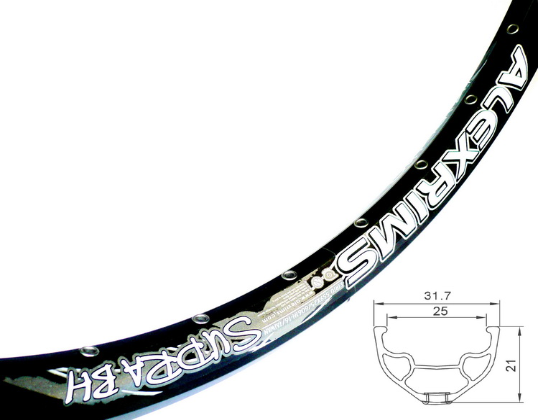 "Обод Alexrims 26"" (559х25) 32Н Supra BH  610гр, под дисковый тормоз, чёрный"