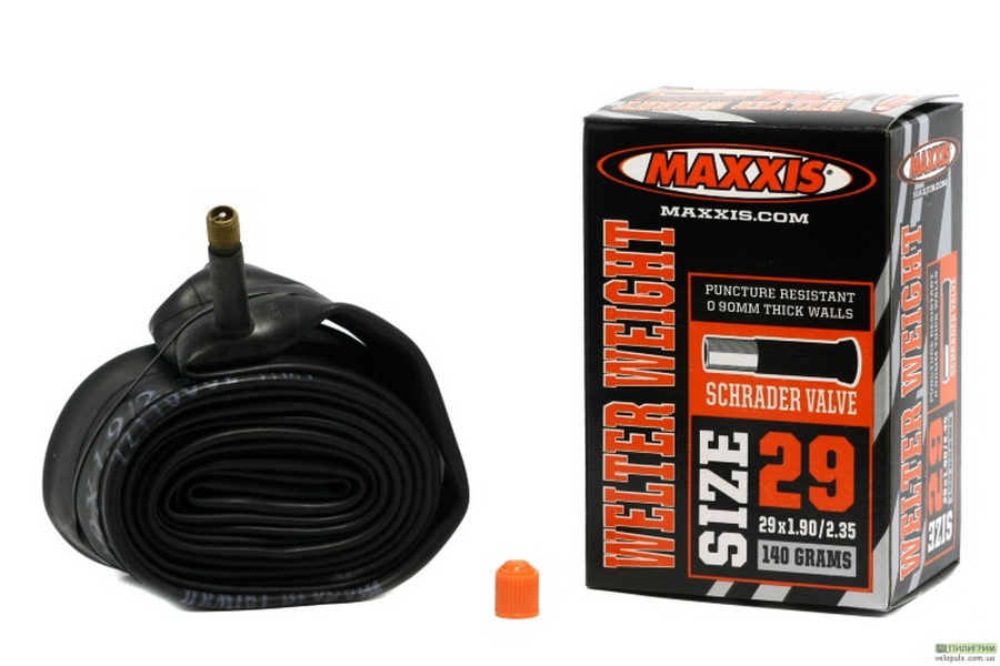 "Maxxis велокамера 29""x1.9/2.35 (622-50/58) 0.9мм A/V-33мм Welter Weight (IB96822500)"
