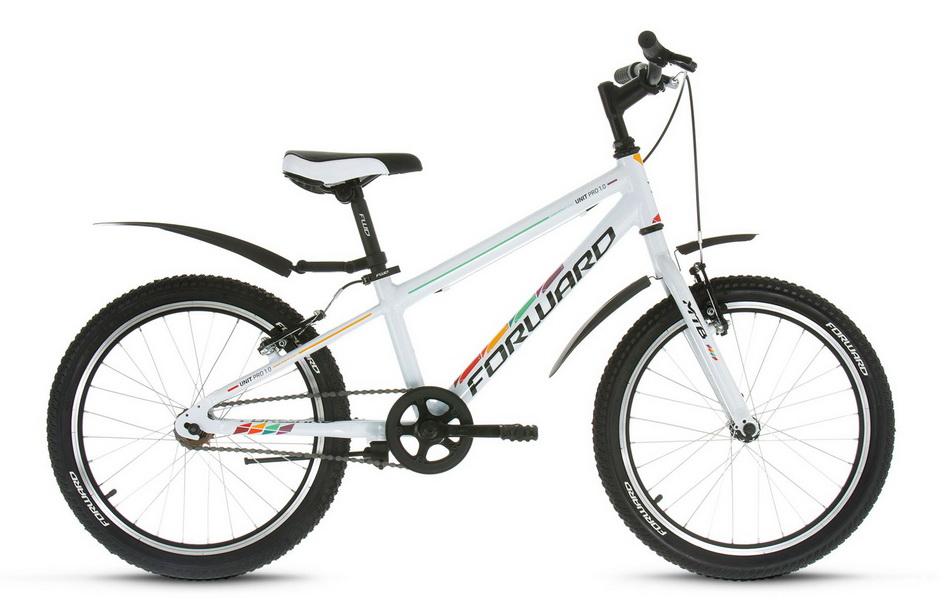 """Велосипед 20"""" Forward Unit Pro 1.0 1ск, алюминиевая рама, V-br, белый"""