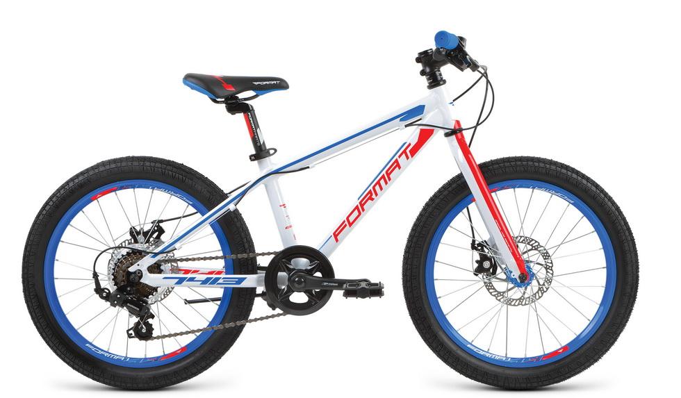 """Велосипед 20"""" Format 7413 boy 7ск, AL, Disc, белый, модель 2017"""