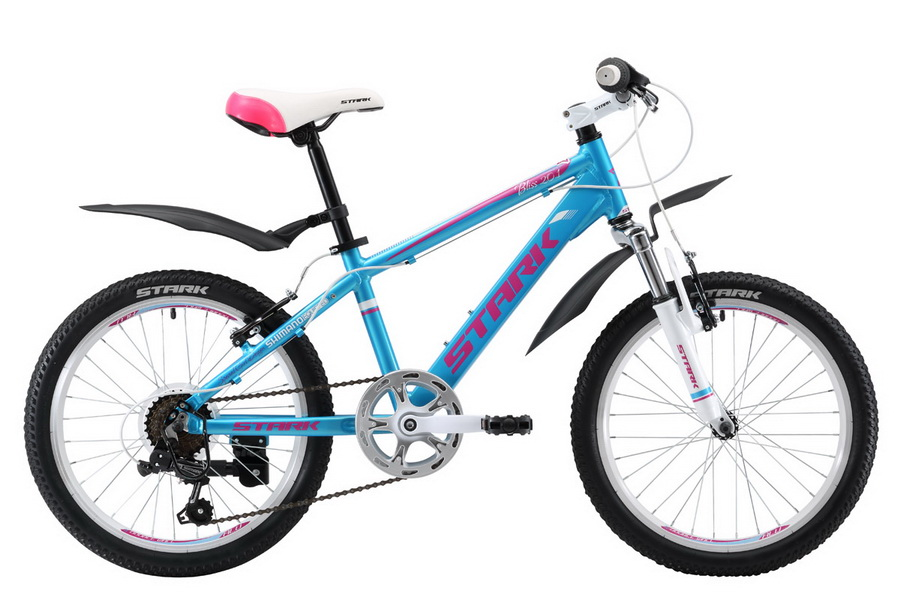 "Велосипед 20"" Stark Bliss 20.1 V, 7ск, AL, V-br, сине-розовый, модель 2017"