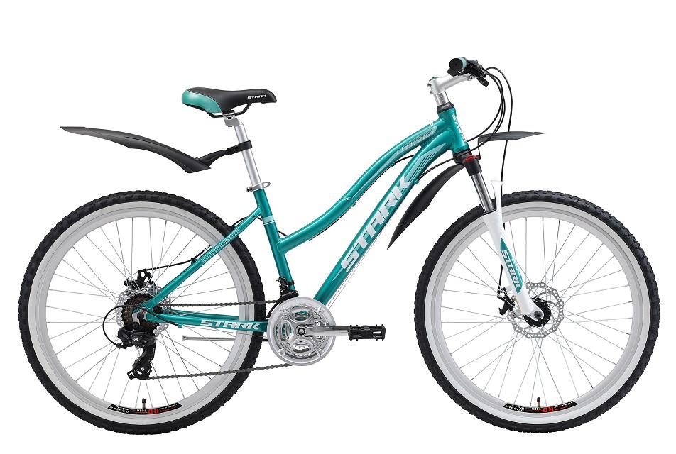 """Велосипед 26"""" Stark Luna 26.2 D, (18"""") 21ск, AL, Disc, бирюзово-белый, модель 2018"""