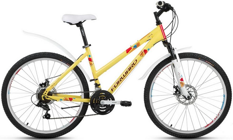 "Велосипед 24"" Forward Iris 2.0 18ск, St, Disc, жёлтый, 2018г."