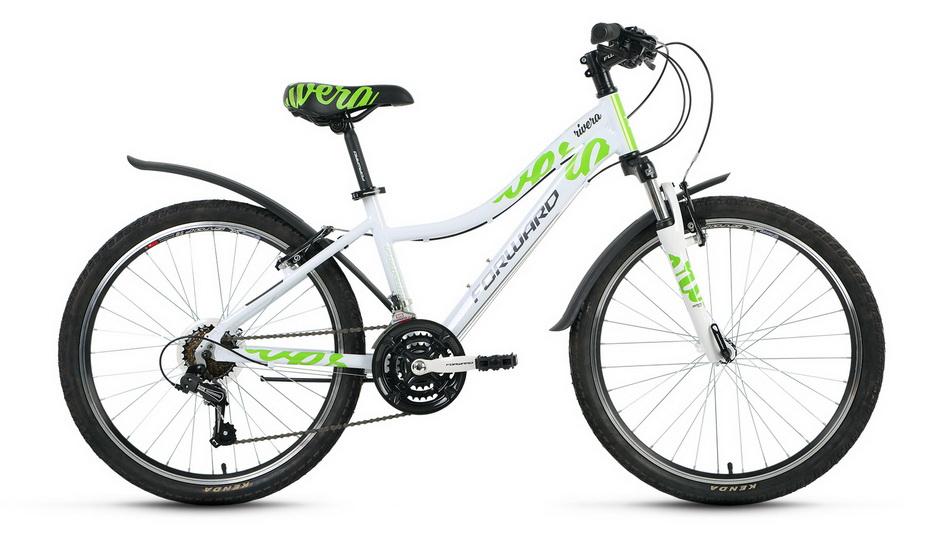 "Велосипед 24"" Forward Rivera 1.0 18ск, алюминиевая рама, V-br, белый, 2018г."