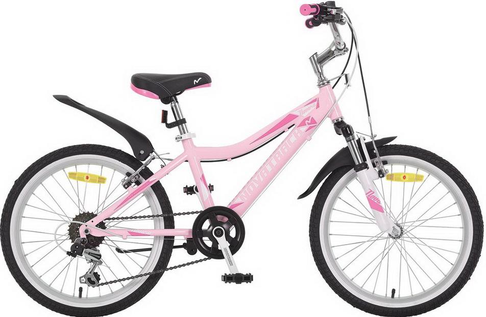 """Велосипед 20"""" Novatrack Novara, 6ск, алюминиевая рама, розовый"""