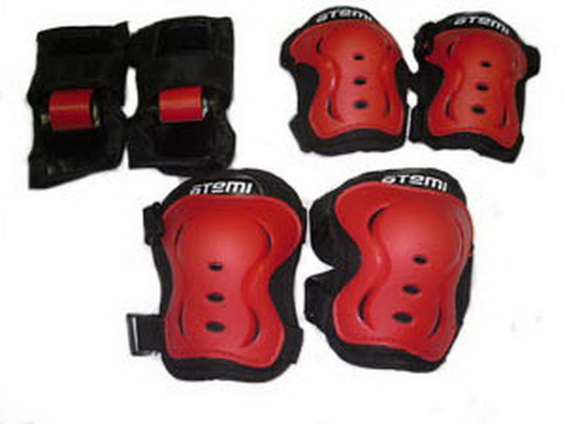 Велоформа Защита взрослая APS-02, р.L, набор (колени+локти+кисти), чёрно-красная   ч