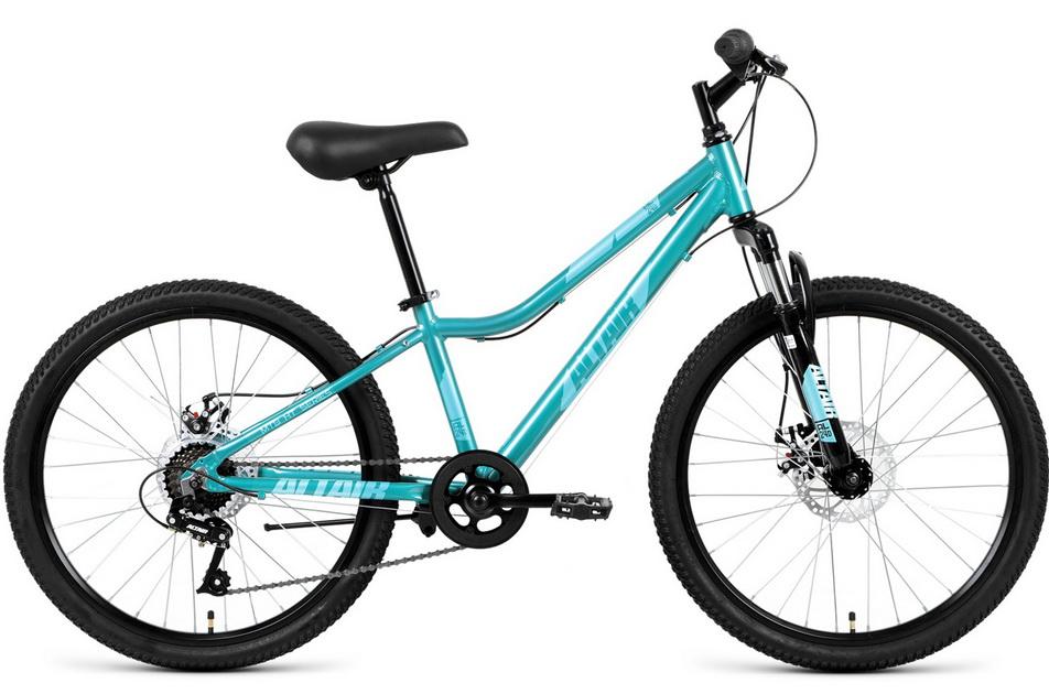 """Велосипед 24"""" Altair MTB HT 7ск, AL, Disc, бирюзовый, 2019г."""