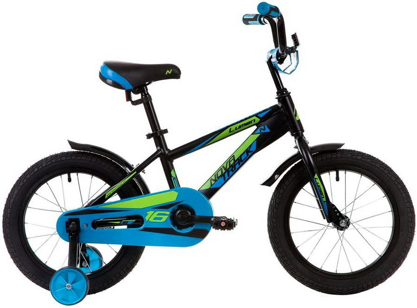 """Велосипед 16"""" Novatrack Lumen, алюминиевая рама, чёрный"""