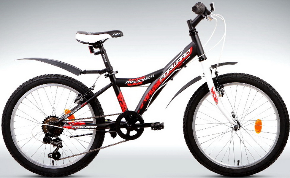 """Велосипед 20"""" Forward Majorca 2.0 6ск, St, V-br, чёрный"""