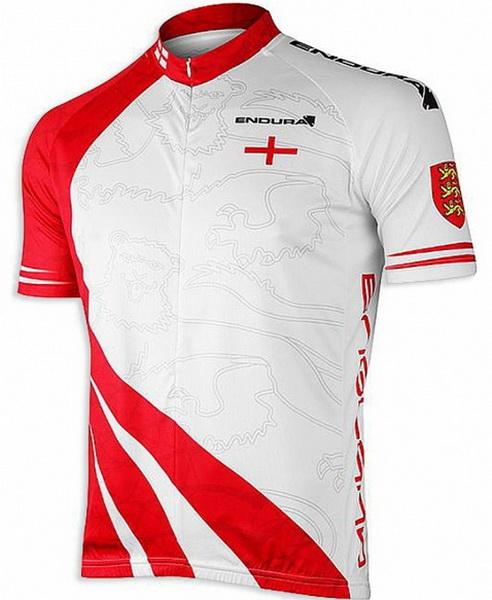 Велоформа Джерси Endurа englano р.L, с коротким рукавом, бело-красная