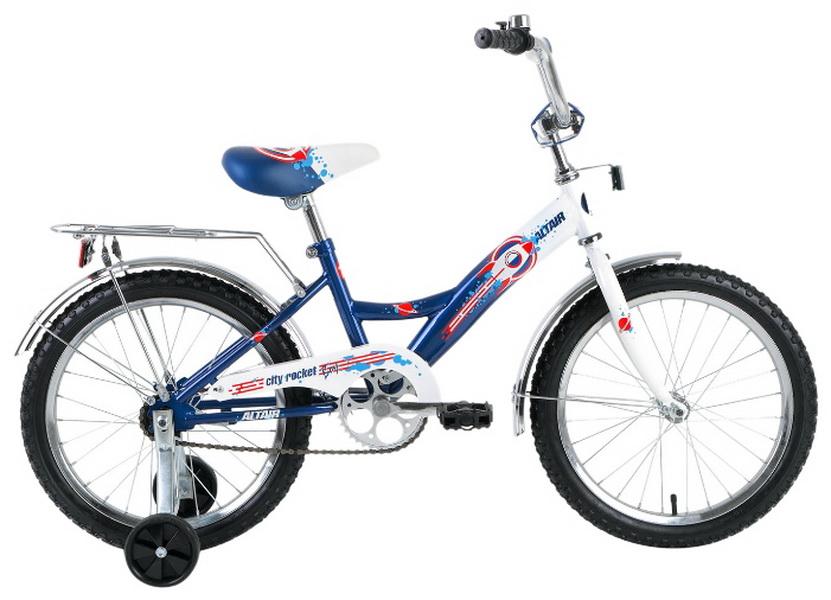 """Велосипед 20"""" Altair City Boy Compact складной, бело-синий, 2017г."""