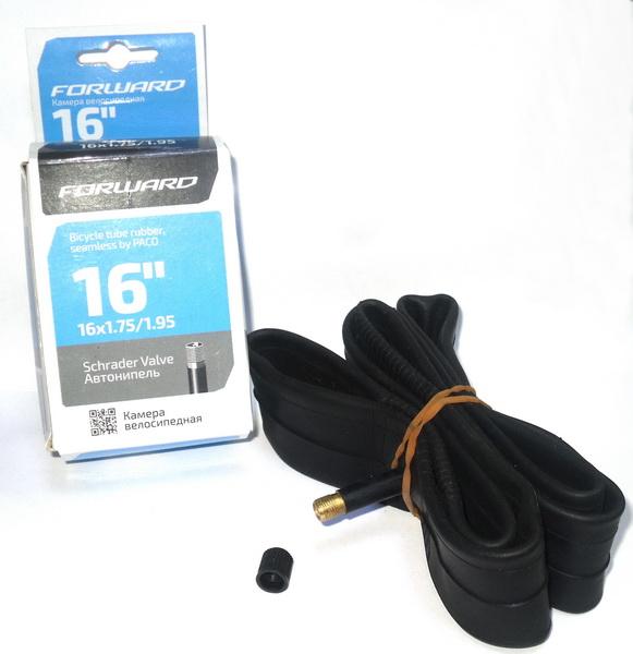 "Велокамера 16""х1.75/1.95 (305-47/50) A/V Paco ITR16 (NTS16RBFYD01)   ч"