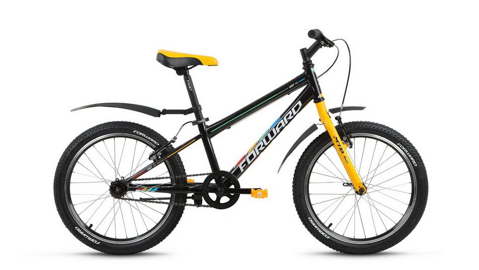 "Велосипед 20"" Forward Unit 1.0 1ск, St, V-br, чёрный, 2018г."