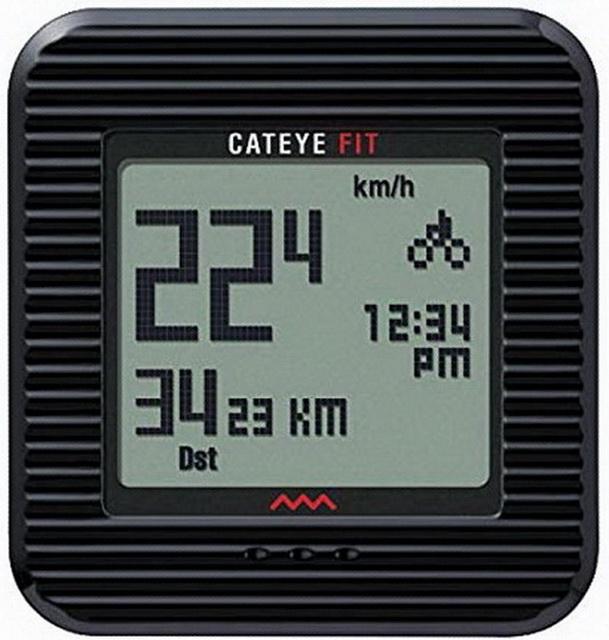 Велокомпьютер Cateye, CC-PD100W, 9 функций, беспроводной, +3D шагомер чёрный   а