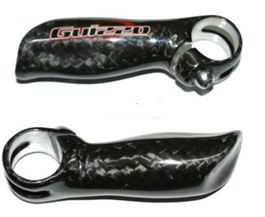 Рога Kalloy Guisso BEC-101 L97мм, AL/Сarbon, анатомические, чёрные