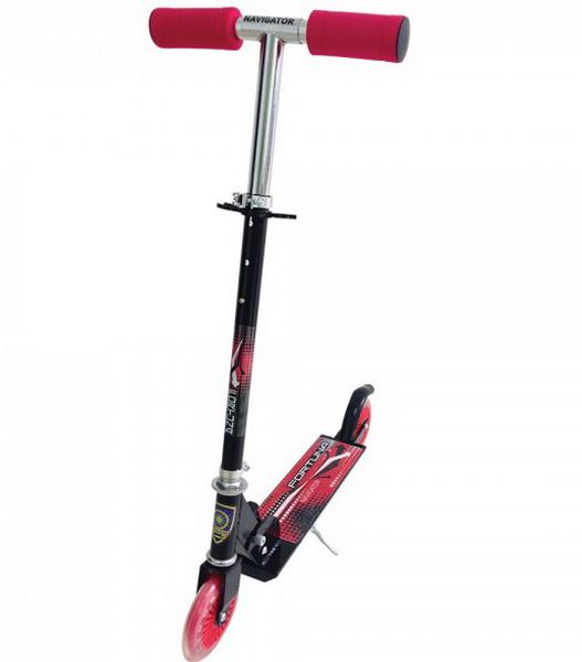 Самокат Navigator Fortuna Т57571 (120мм), чёрно-красный