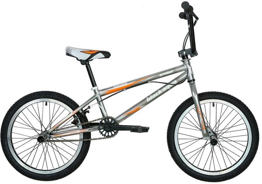 """Велосипед 20"""" BMX Black Aqua Street GW-11B602 / GW-B173, рама - хромо молибден, серо-оранжевый"""