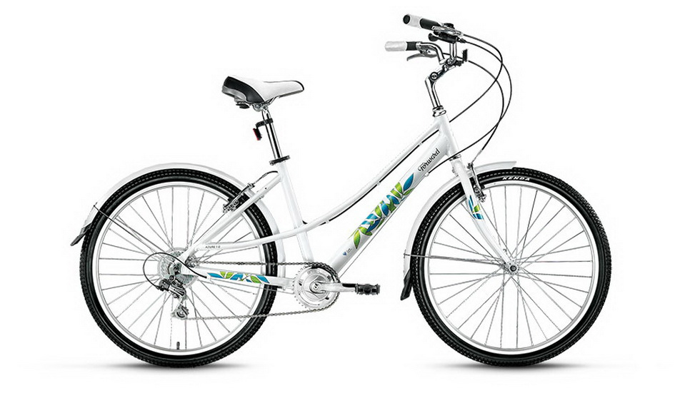 "Велосипед 24"" Forward Azure 7ск, алюминиевая рама, V-br, белый"