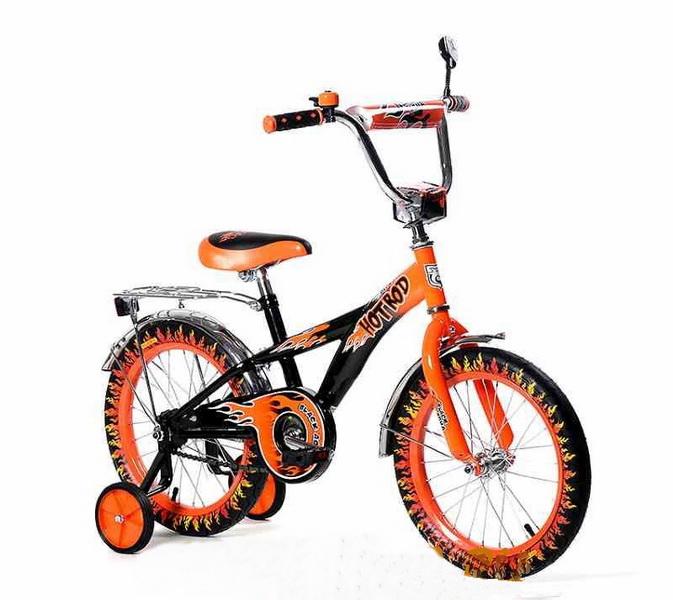 """Велосипед 16"""" Black Aqua Hot-Rod KG1606 оранжевый (цветные покрышки), 2017г."""