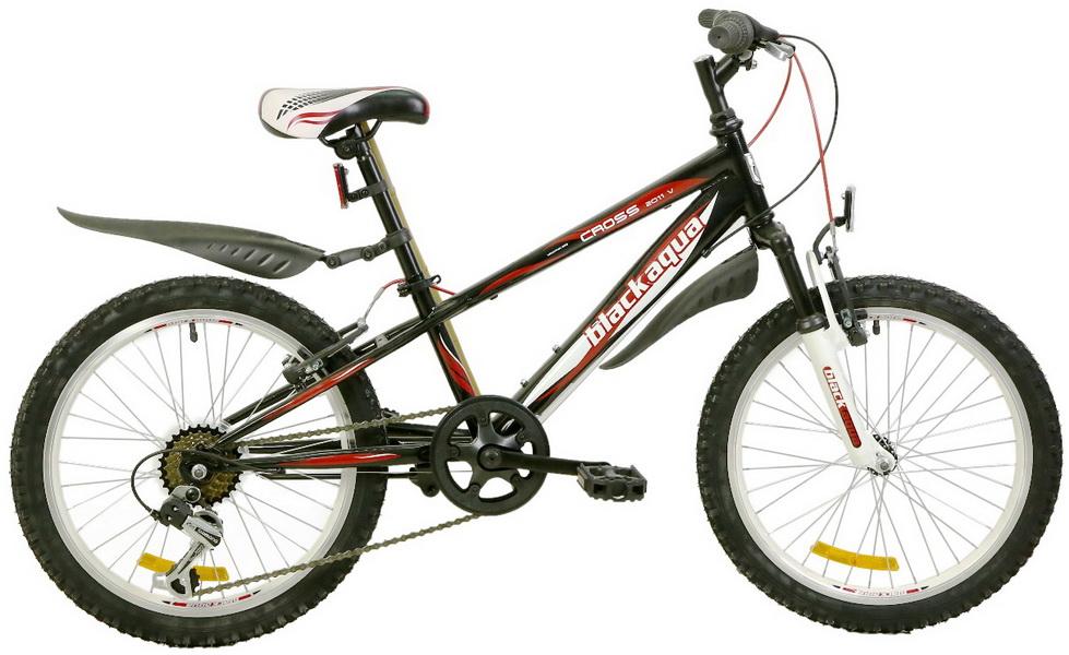 """Велосипед 20"""" Black Aqua Cross 2011 V GW-B225 6ск, алюминиевая рама, V-br, чёрный"""