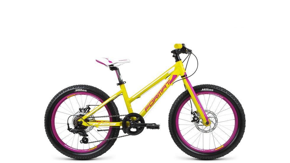 """Велосипед 20"""" Format 7423 7ск, AL, Disc, зелёный, модель 2017"""