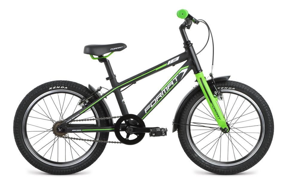 """Велосипед 18"""" Format Kids boy 1ск, AL, V-br, чёрный"""