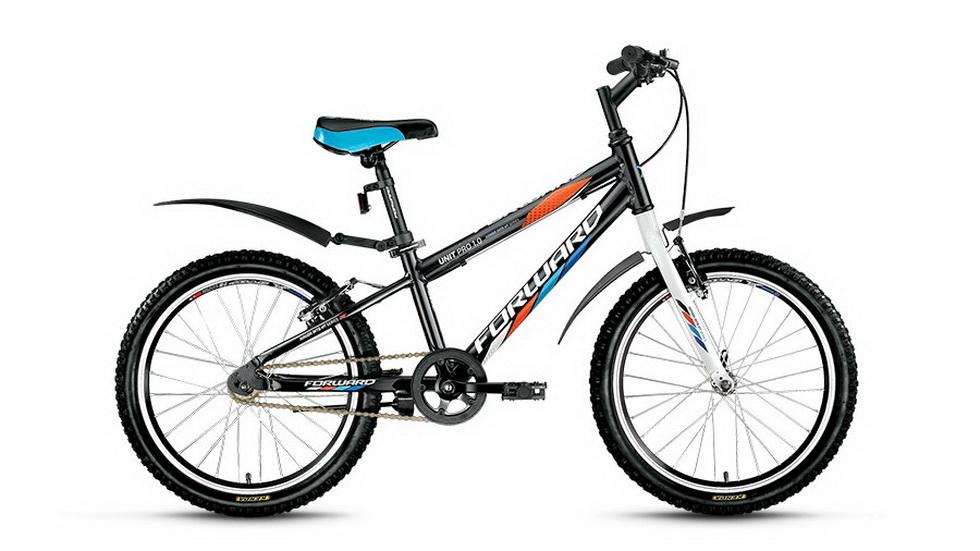 """Велосипед 20"""" Forward Unit Pro 1.0 1ск, алюминиевая рама, V-br, чёрный"""