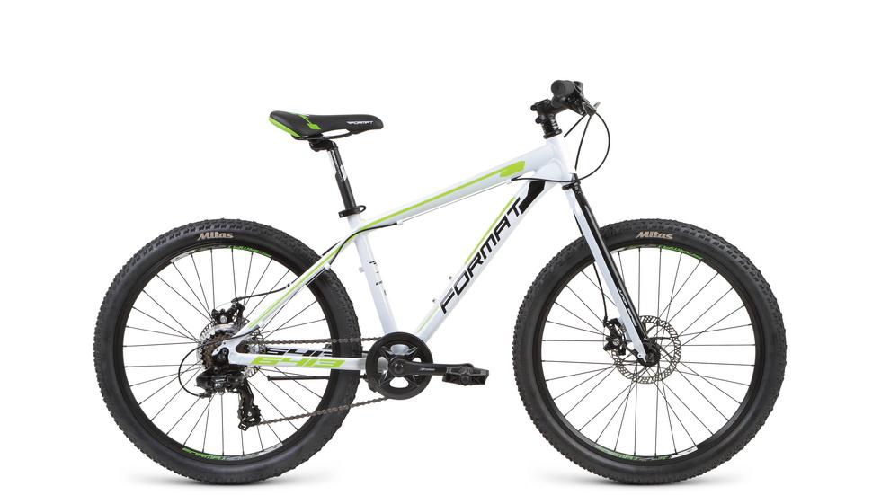 """Велосипед 24"""" Format 6413 boy 7ск, AL, Disc, белый, модель 2017"""