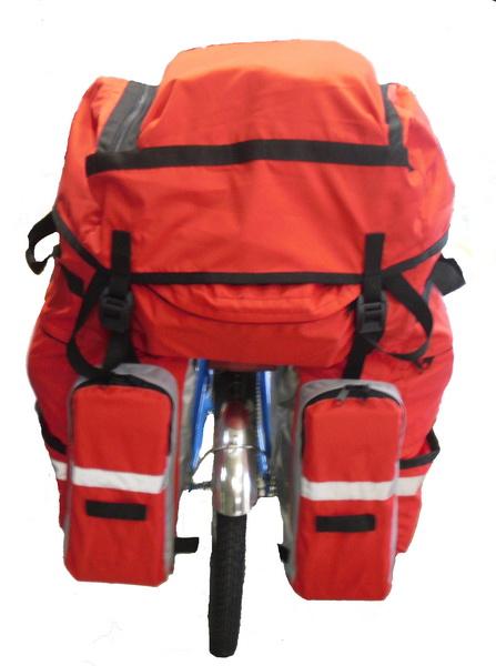 """Сумка на багажник Course, вр041.080, 65-80+л, """"штаны"""", красная"""