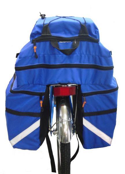 "Сумка на багажник Course, вр021.030, 30л, ""штаны"", синяя"