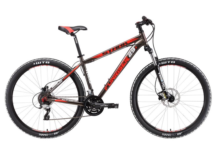 """Велосипед 29"""" Stark Funriser 29.4 HD, (18"""") 24ск, AL, Disc, серо-красный, модель 2017"""