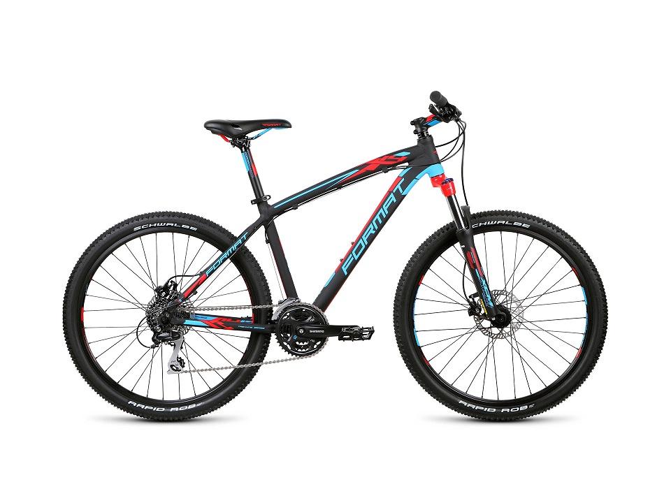"Велосипед 26"" Format 1412 (XL"") 24ск, AL, Disc, чёрно-синий, модель 2015"