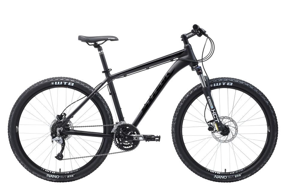 """Велосипед 27.5"""" Stark Tactic 27.5 HD, (18"""") 27ск, AL, Disc, чёрный, модель 2018"""