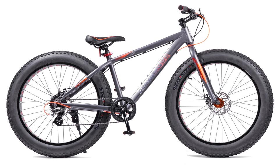"""Велосипед 26"""" Black Aqua Fat 2691 D GL-334D 8ск, AL, Disс, серо-оранжевый, 2018г."""