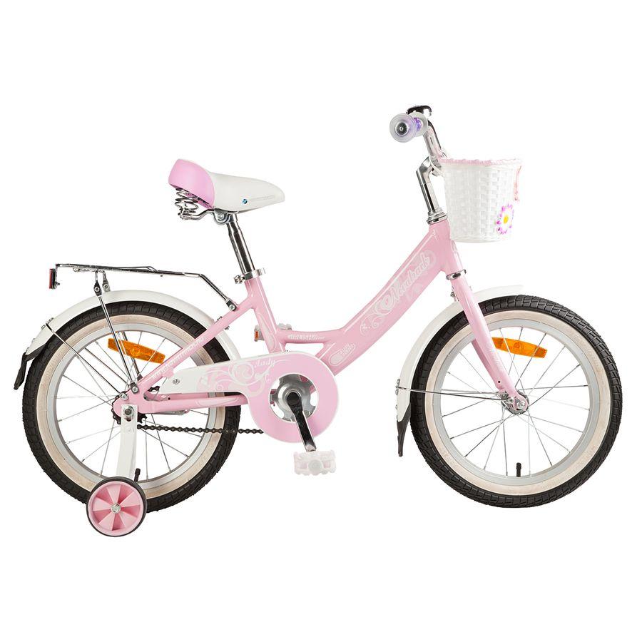 """Велосипед 16"""" Novatrack Girlish Line, алюминиевая рама, розовый"""
