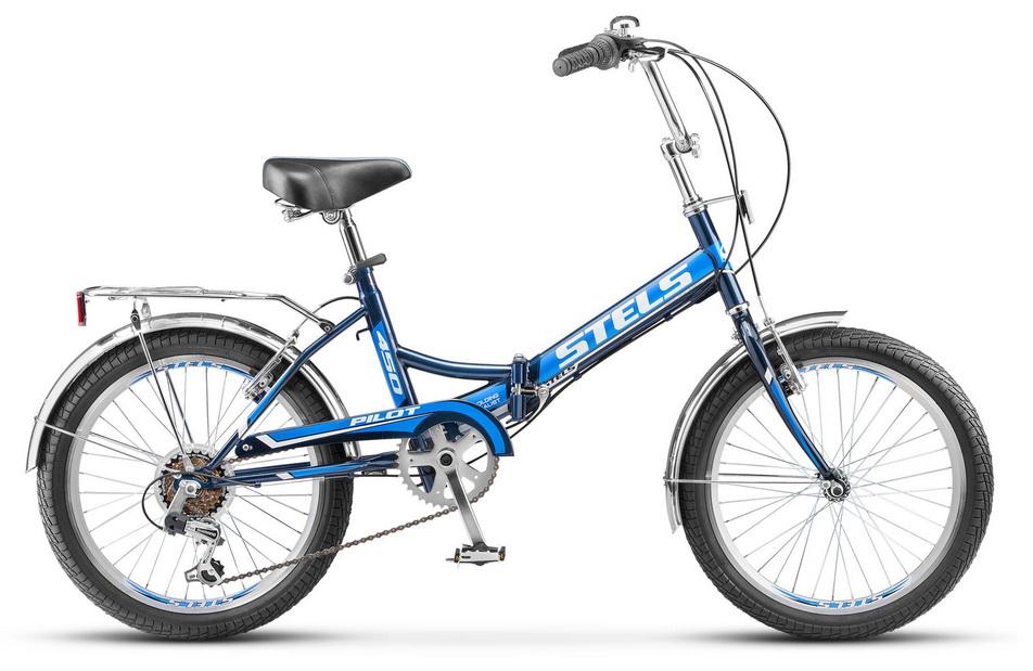 """Велосипед 20"""" Stels Pilot 450 6ск, складной, St, V-br, синий, 2017г."""