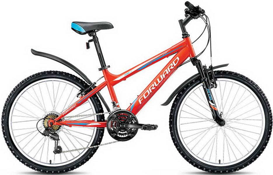 """Велосипед 24"""" Forward Titan 2.1 18ск, St, V-br, оранжевый, 2018г."""