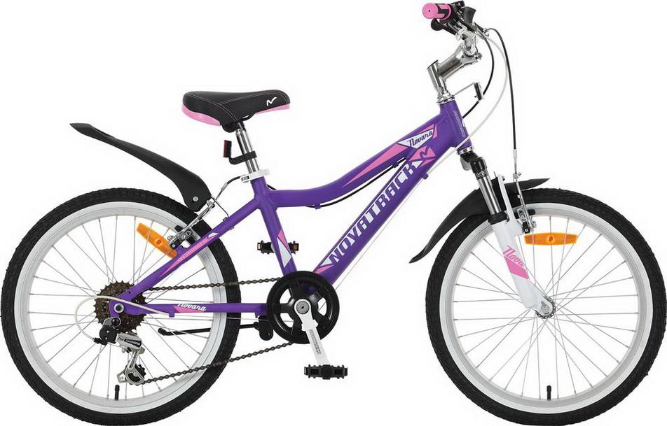 """Велосипед 20"""" Novatrack Novara, 6ск, алюминиевая рама, фиолетовый"""