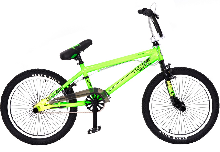 """Велосипед 20"""" BMX Black Aqua Jump 1.0 GL-601V 1ск, V-br, зелёный, 2018г."""