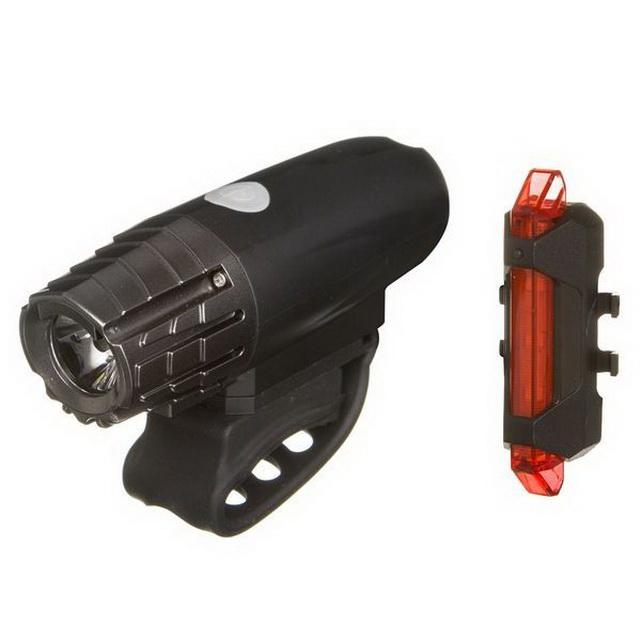 Фонарь задний + передний STG 5 диодов, 4 режима, аккумулятор, USB для зарядки, FL1536+BCTL5477    г