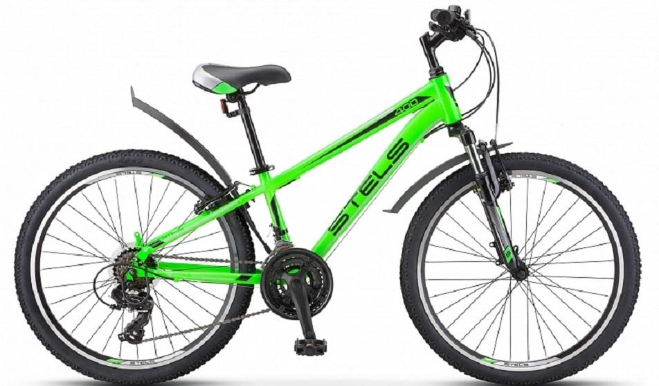 "Велосипед 24"" Stels Navigator 400 MD F010 (12"") 18ск, AL, Disc, зелёный, 2021г."
