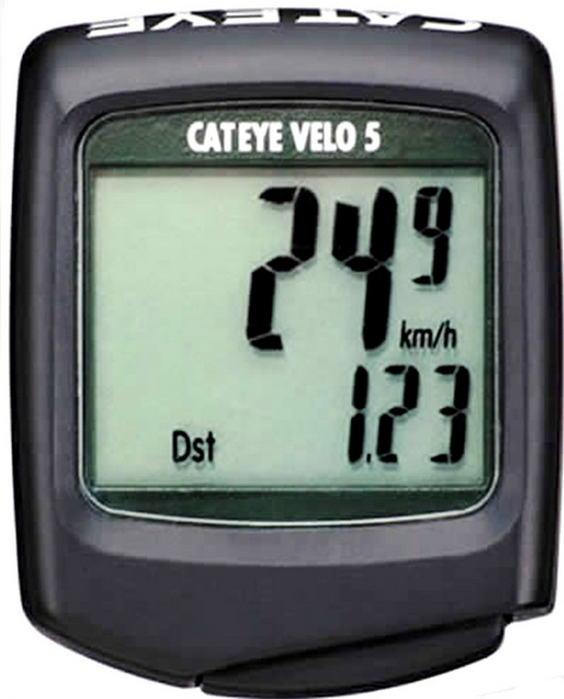 Велокомпьютер Cateye, CC-VL500, Velo 5, 5 функций