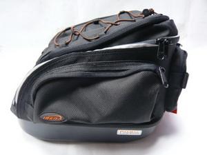 Сумка на багажник Ibera, IB-BА6, кофр со светоотражающей полосой, влагостойкая, быстросъёмная, чёрная   **