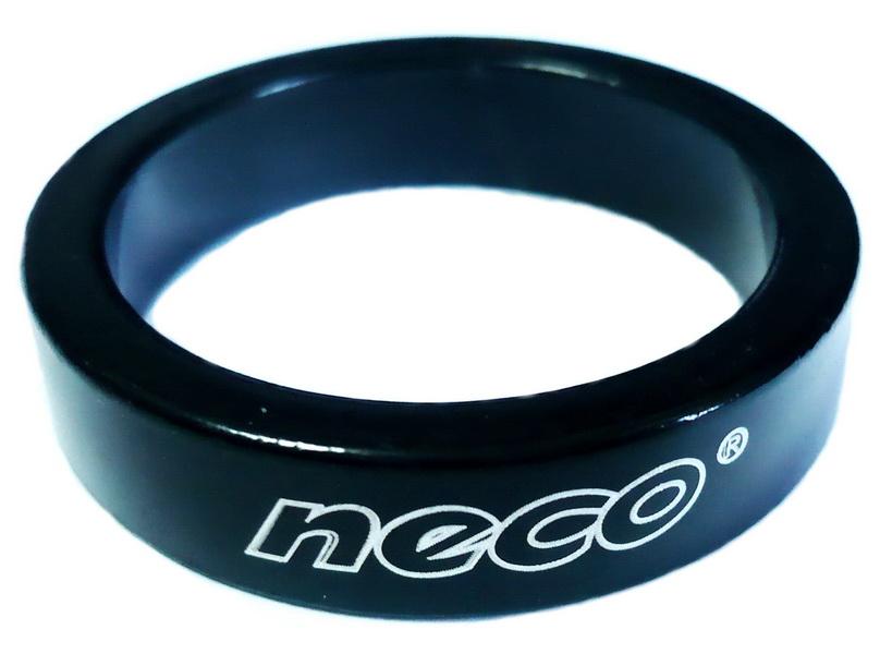 "Кольцо рулевой колонки 1-1/8"" H=8мм Neco AS3508 AL, чёрное   м"