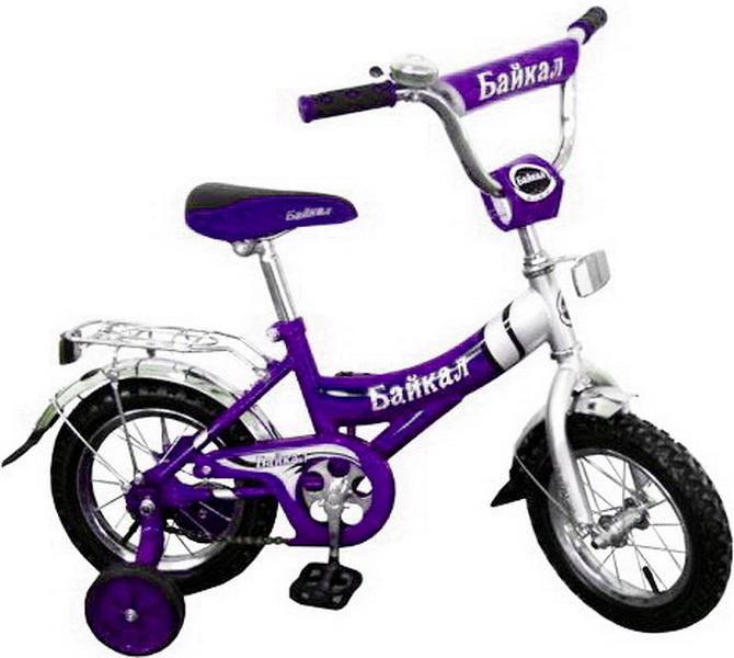 """Велосипед 12"""" Байкал В1203 фиолетовый"""