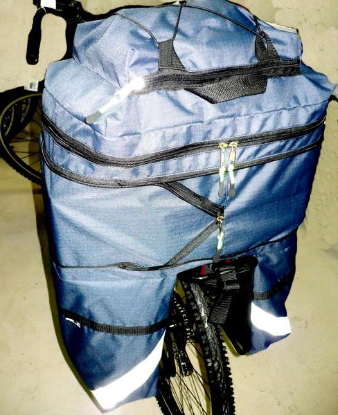"Сумка на багажник Course, вр031.050, 30-50л, ""штаны"", синяя"
